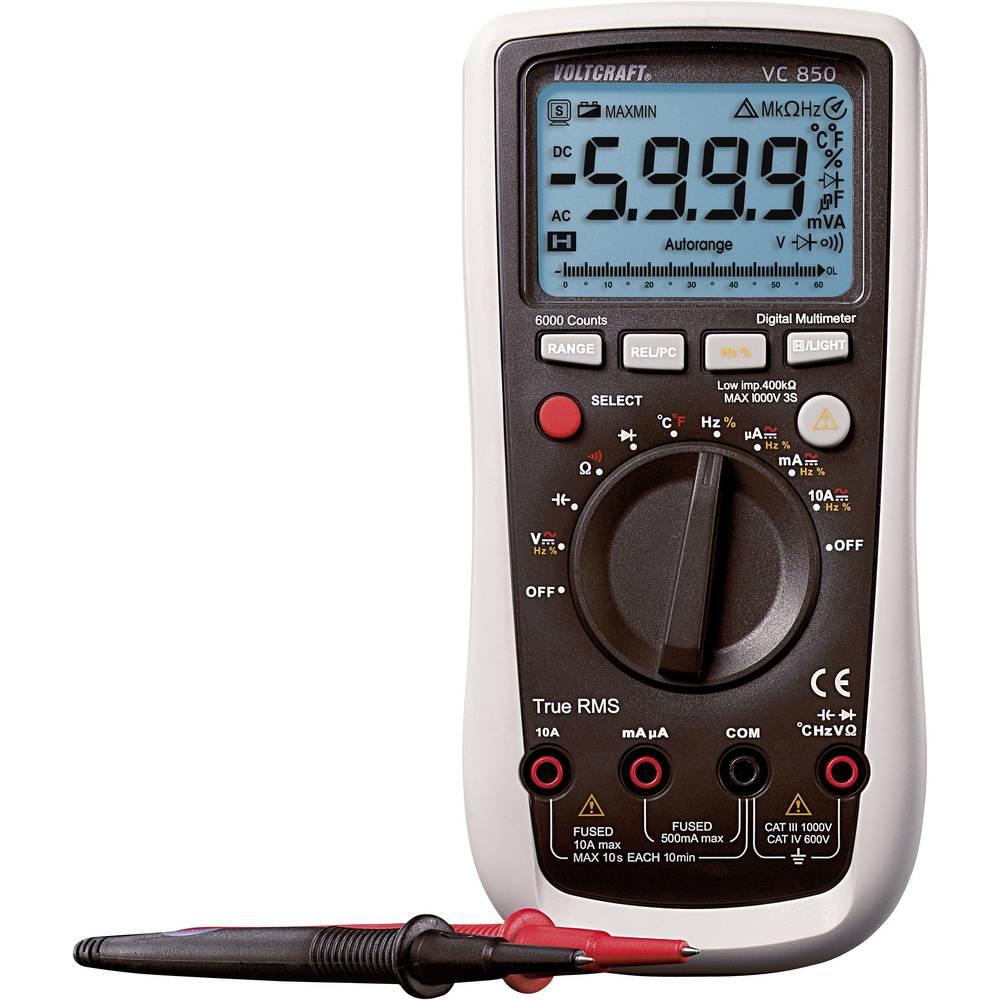 Ročni multimeter, digitalni VOLTCRAFT VC850 kalibracija narejena po: DAkkS CAT III 1000 V, CAT IV 600 V število znakov na zaslon