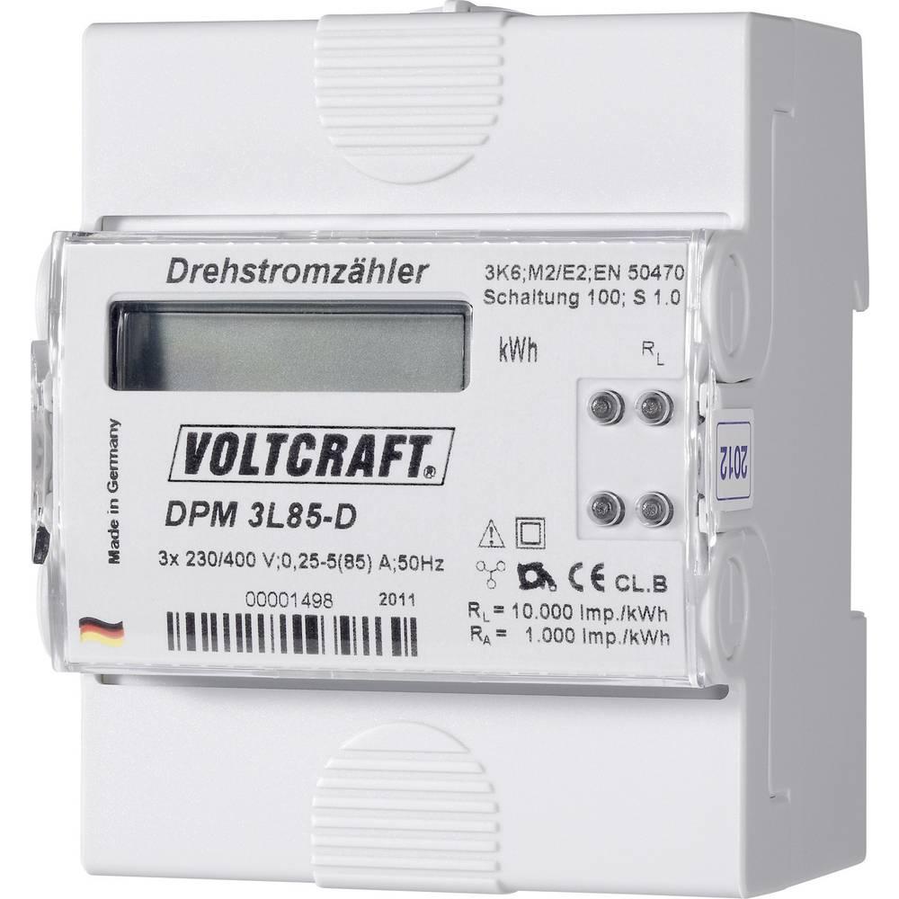 Brojilo trofazne struje digitalno 85 A MID standard: ne VOLTCRAFT DPM 3L85-D