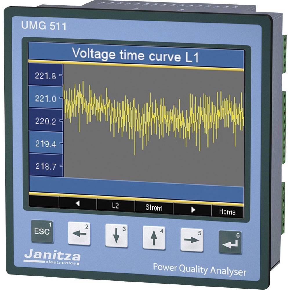 Janitza UMG 511 analizator omrežja 5219001 CAT III 600 V kalibracija narejena po DAkkS