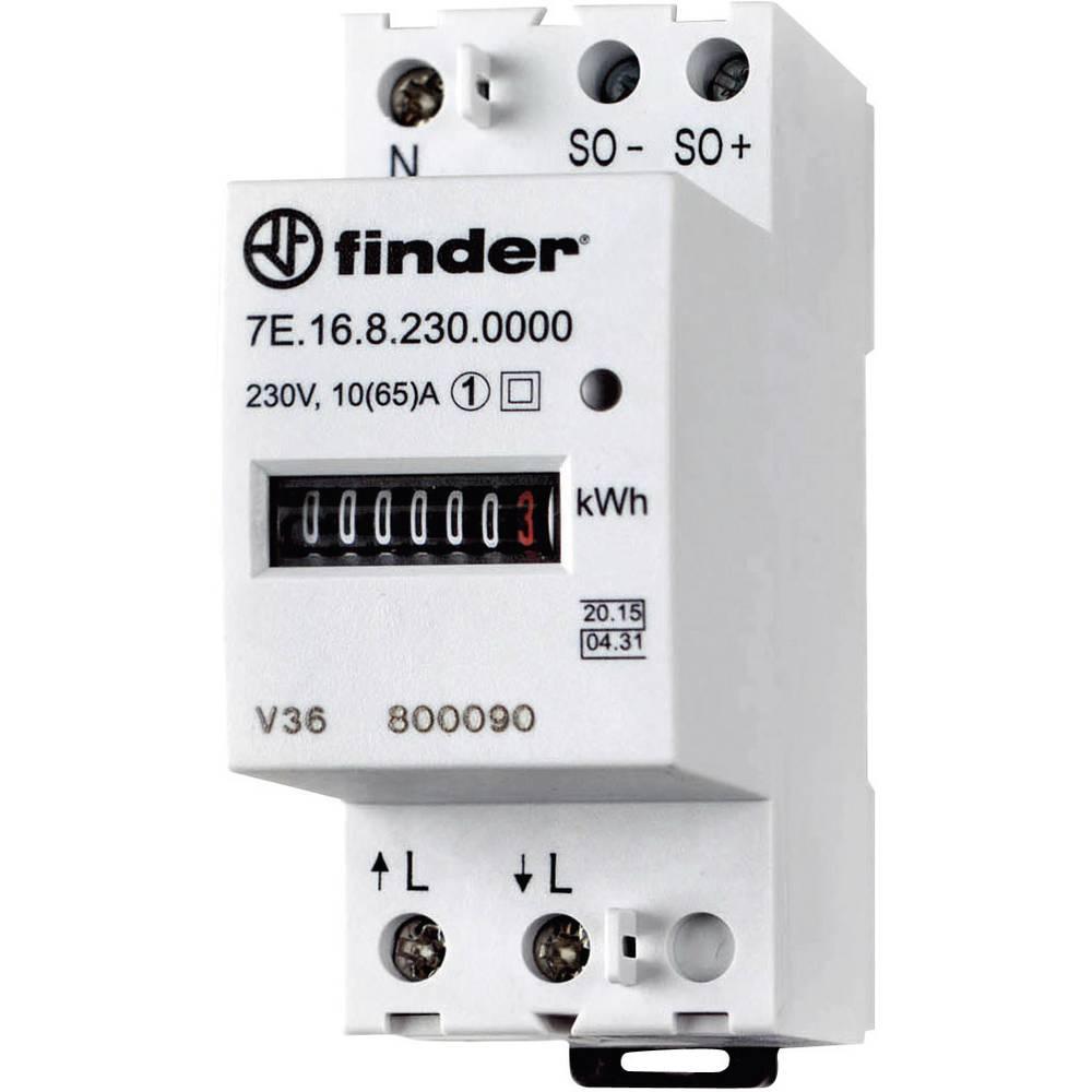 Enofazni števec izmeničnega toka, mehanski 65 A MID odobritev, Finder 7E.16.8.230.0010
