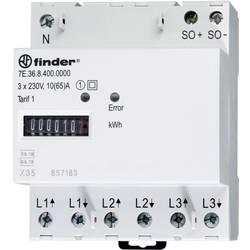 Trifazni števec električnega toka, mehanski 65 A MID odobritev, Finder 7E.36.8.400.0010