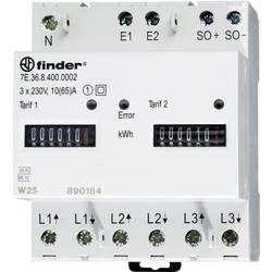 Trifazni števec električnega toka, mehanski 65 A MID odobritev, Finder 7E.36.8.400.0012