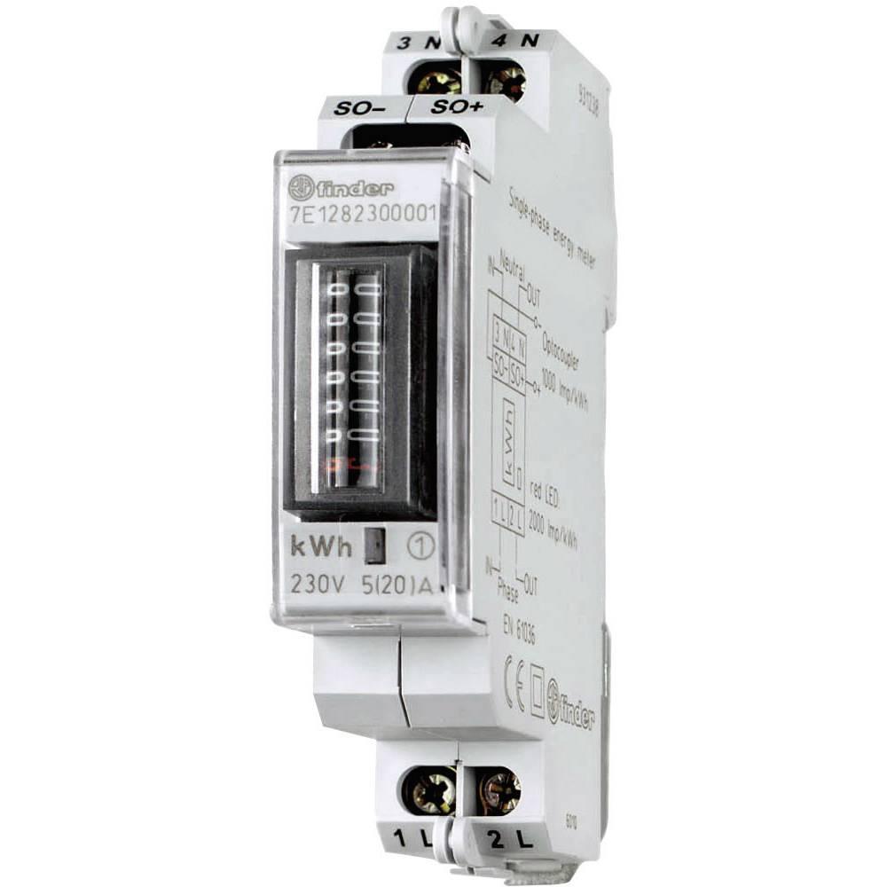 Brojilo izmjenične struje, mehaničko 7E.12.8.230.0001 Finder 25 A MID sukladnost: ne