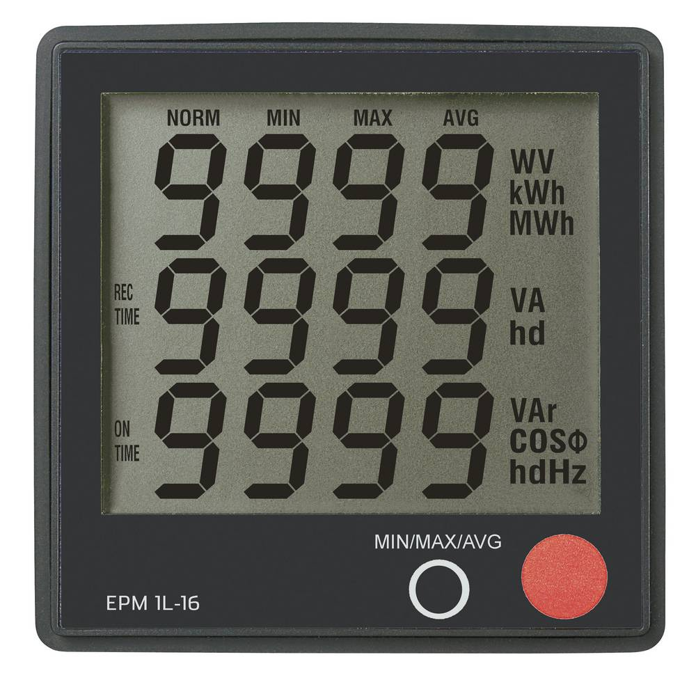 VOLTCRAFT® EPM 1L-16 vgradni digitalni merilnik, napetost 190 - 250 V/AC; tok: 0 - 16 A; Cos-Phi: 0 - 1,00; moč: 0 - 3680 W
