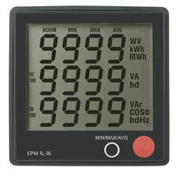Digital panelmätare VOLTCRAFT EPM 1L-16 Spänning: 190–250 V/AC; Ström: 0–16 A Cos-fi: 0–1,00; Effekt: 0–