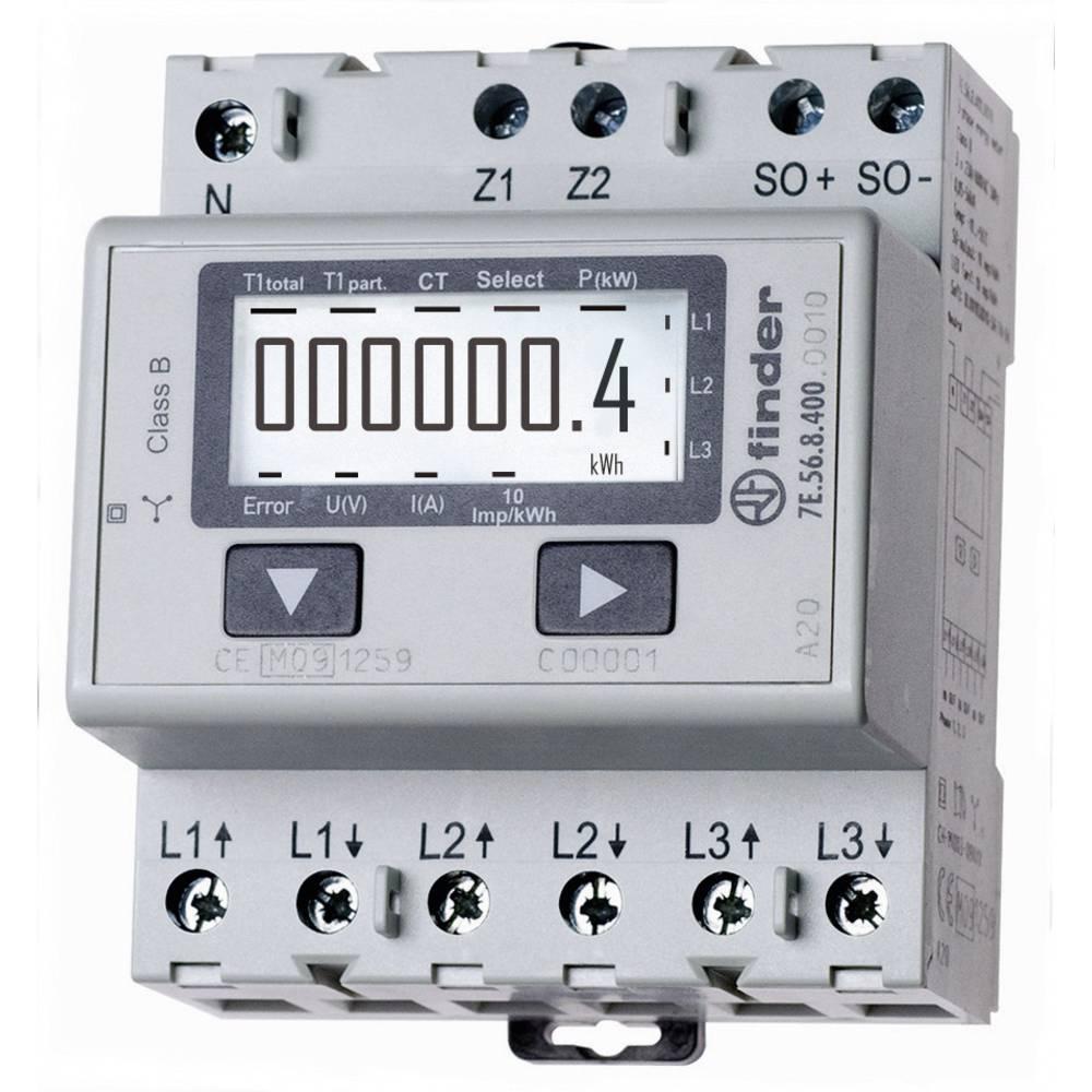Trifazni števec električnega toka, digitalni 1500 A MID odobritev, Finder 7E.56.8.400.0010