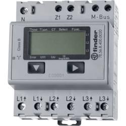 Trifazni števec električnega toka, digitalni, priklj. na pretvornik 5 A Finder 7E.56.8.400.0020