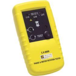 Kal.-ISO Prikazovalnik smeri vrtilnegapolja/vrtenja motorja ChauvinArnoux C.A 6609, CAT III 600 V P01191305 Chauvin Arnoux