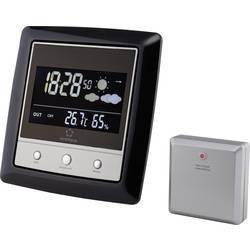 Renkforce vremenska postaja z zunanjim senzorjem, črna, srebrna