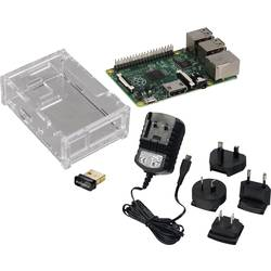 Raspberry Pi® model B+ začetni komplet WLAN 512 MB brez operacijskega sistema vklj. napajalnik, vklj. z ohišjem, vklj. z WLA