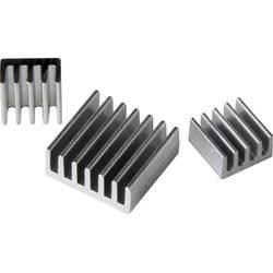 Komplet elemenata za hlađenje RB-heatsink za Raspberry Pi® A, B, B+, pcDuino, Cubieboard, Banana Pi
