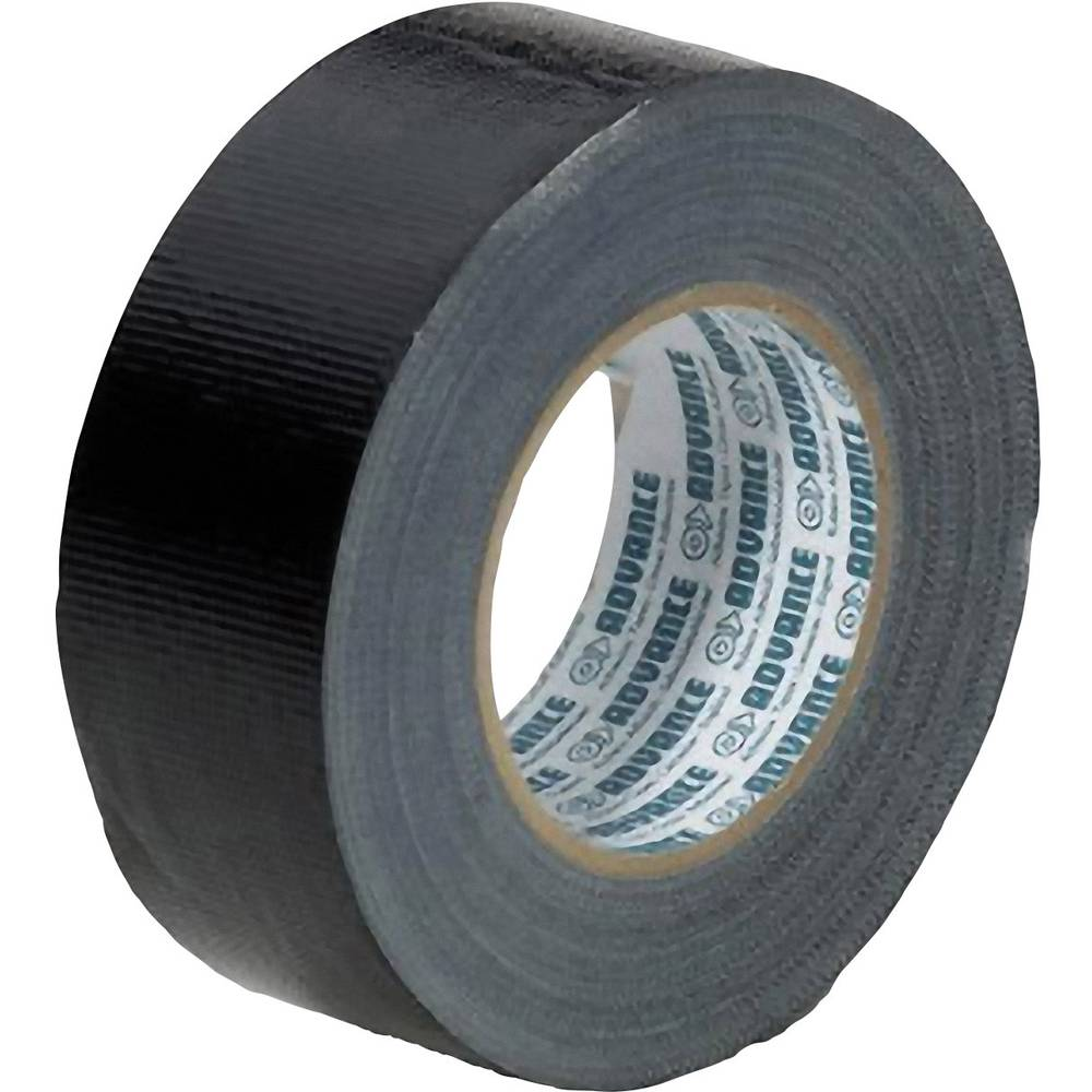 Lepilni trak Advance Tapes AT 170 - Gaffa, črne barve, 50 mm x 50 m
