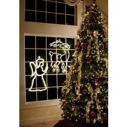 Okenska dekoracija z motivom angela, Polarlite, LED, bele barve, LDE-02-005
