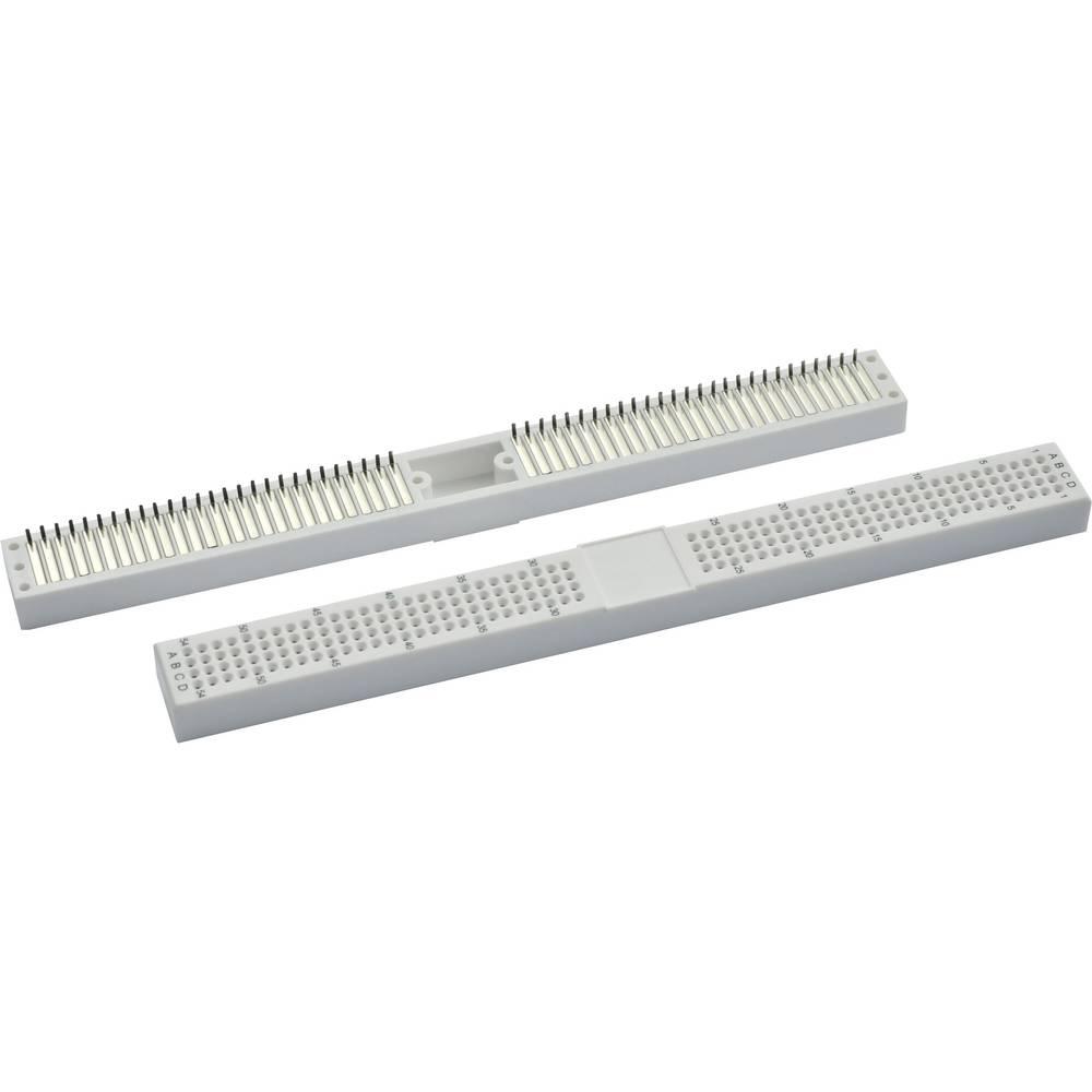 Plošča za tiskano vezje prez spajkanja s spajkalnim priključkom št. polov skupno 216 (D x Š x V) 165.1 x 16 x 8.4 mm Conrad 0165