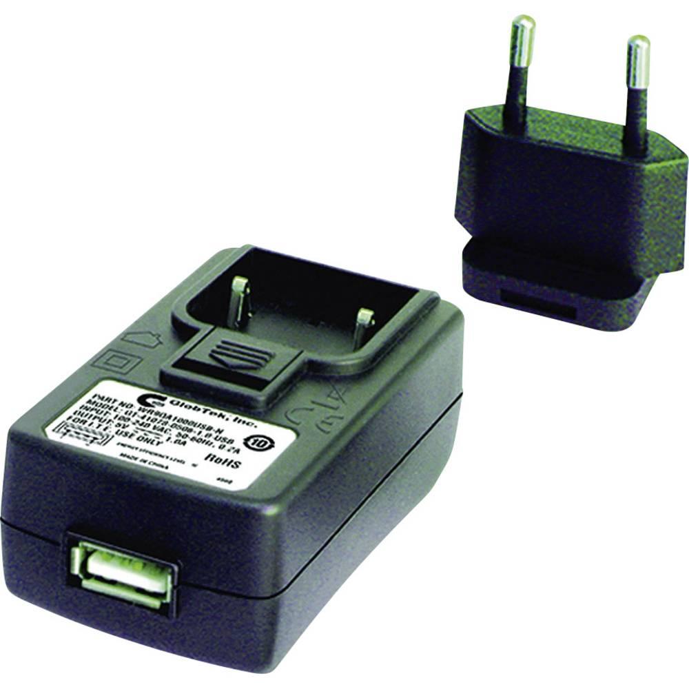 USB-oplader GlobTek GTM41078 WR9QA1200USBNMDEURVB Stikdåse Udgangsstrøm max. 1200 mA 1 x USB (value.1390762)