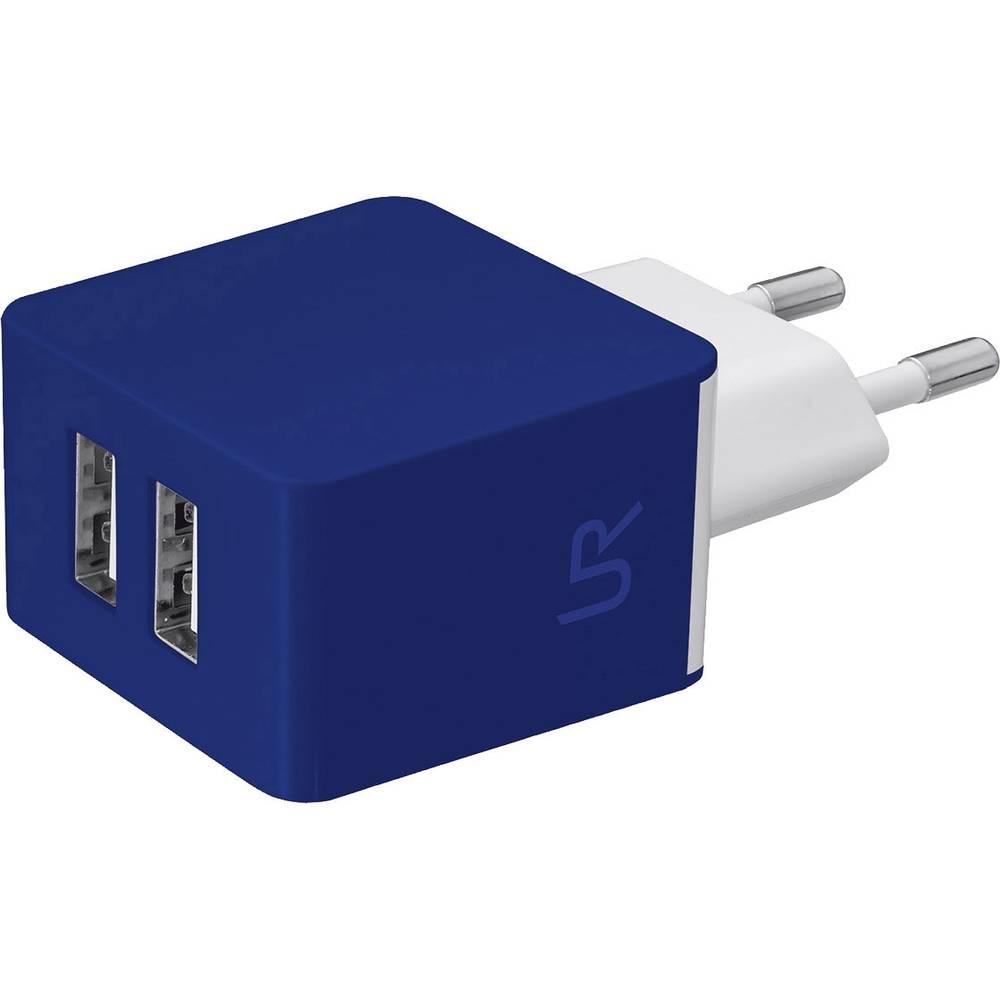 USB-oplader Urban Revolt 20148 20148 Stikdåse Udgangsstrøm max. 2000 mA 2 x USB