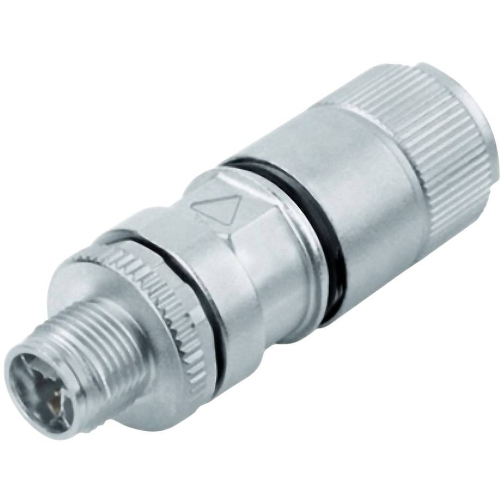 M12 vtični konektor, z x-kodiranjem, zaščiten 99 3787 810 08 srebrne barve Binder vsebuje: 1 kos