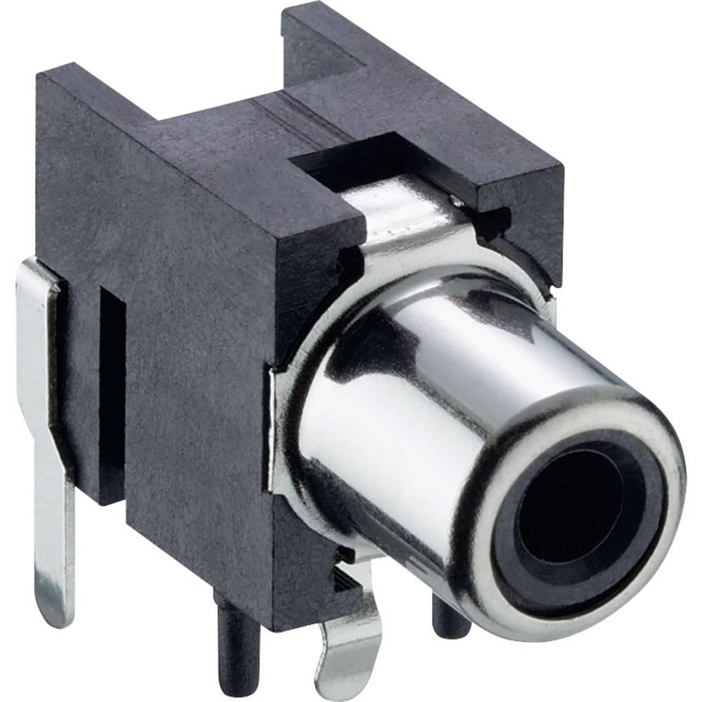 Činč-vtični konektor za vtičnico, vgradni horizontalen Black Lumberg 1553 02 črne barve 1 kos