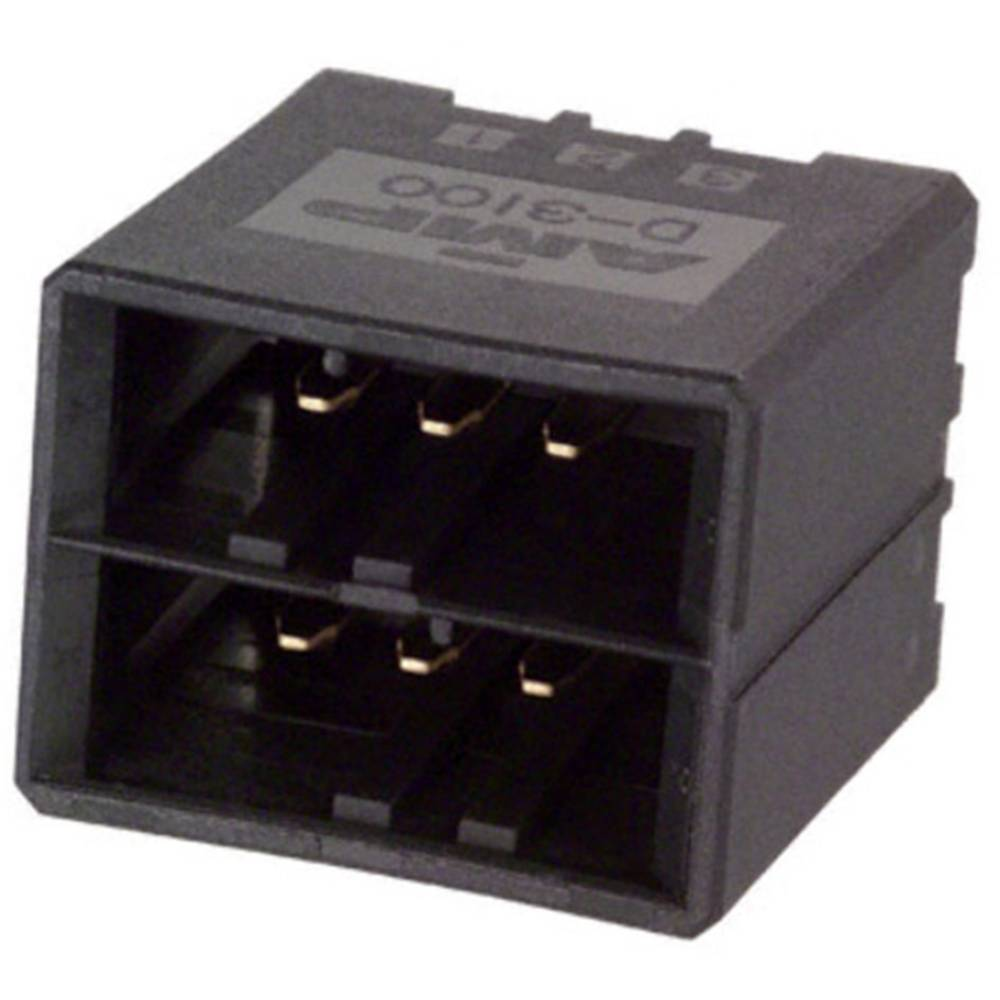Indbygningsstiftliste (præcision) DYNAMIC 3000 Series Samlet antal poler 6 TE Connectivity 1-178141-2 1 stk
