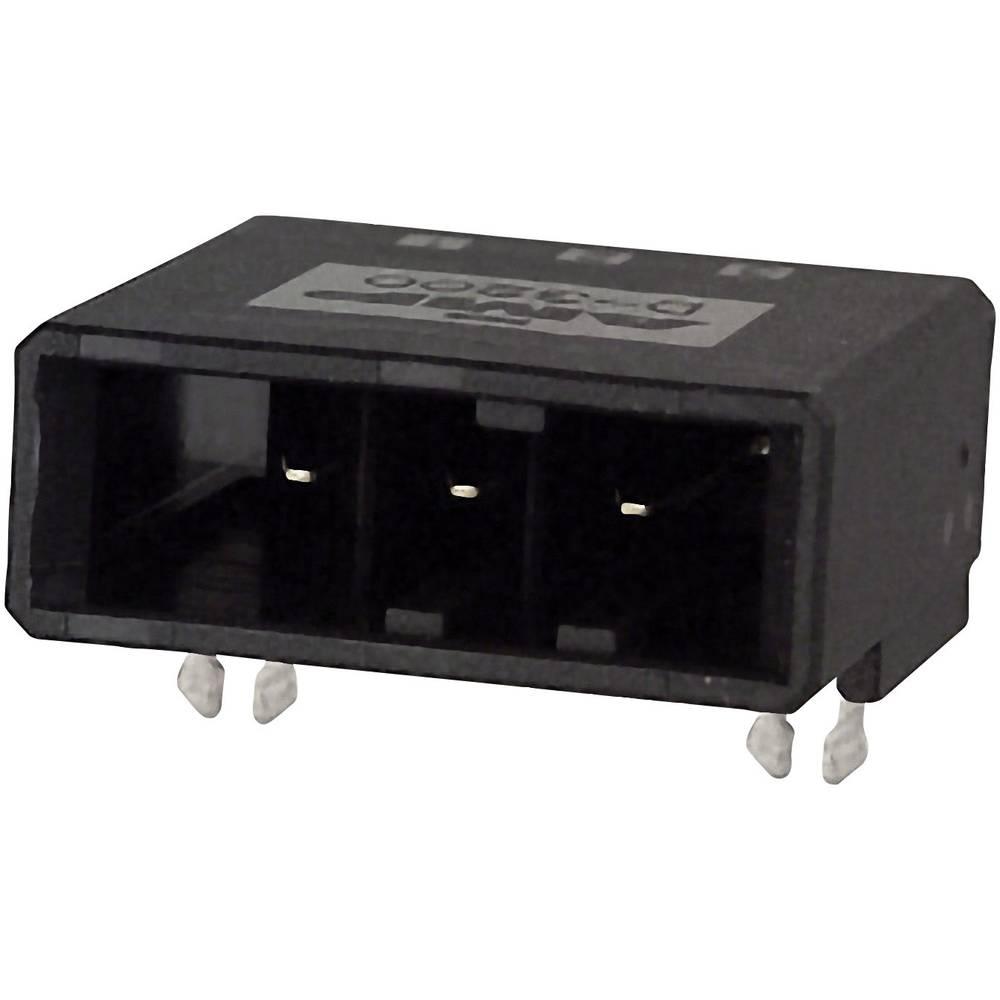 Indbygningsstiftliste (præcision) DYNAMIC 3000 Series Samlet antal poler 3 TE Connectivity 2-178138-2 1 stk