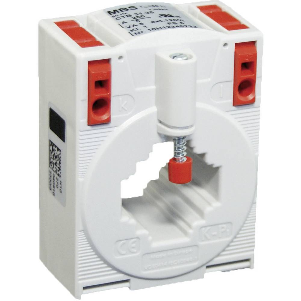 MBS CTB 31.35 300/5A 5VA Kl.1 Tokovni pretvornik, primarni tok:300 A sekundarni tok:5 A premer vhoda kabla :26 mm