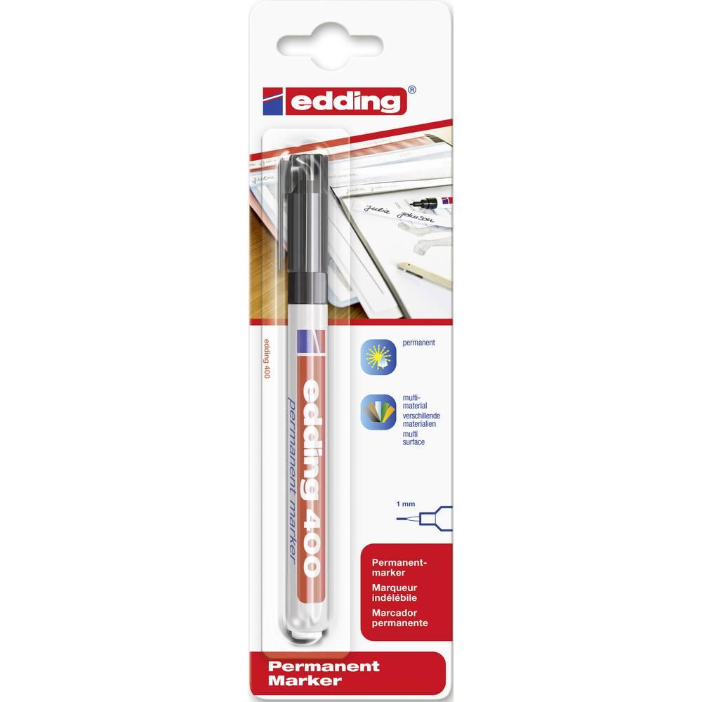 Trajni marker E-400 Edding 4-400001 širina poteza 1 mm šiljasti oblik šiljasti oblik crni
