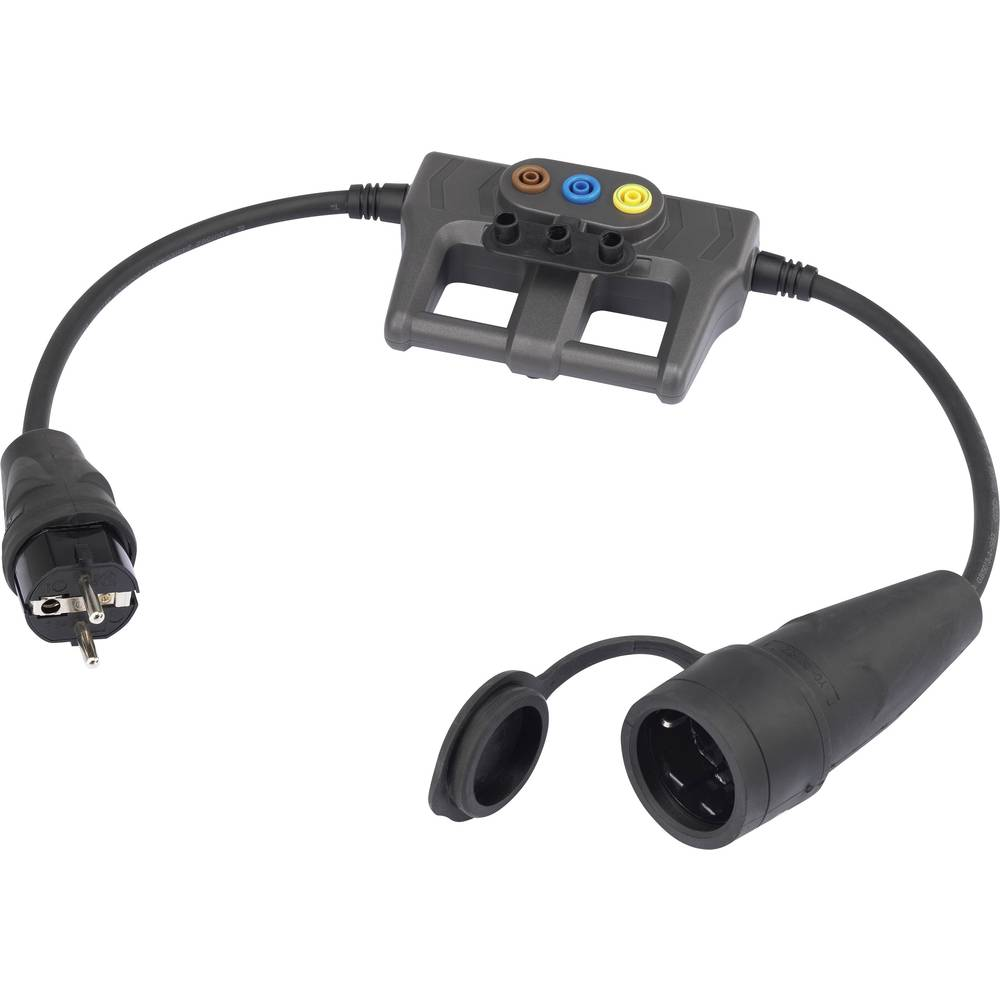 Mjerni adapter [ šuko gumeni utikač - šuko gumena utičnica] VOLTCRAFT DLA-1L 16