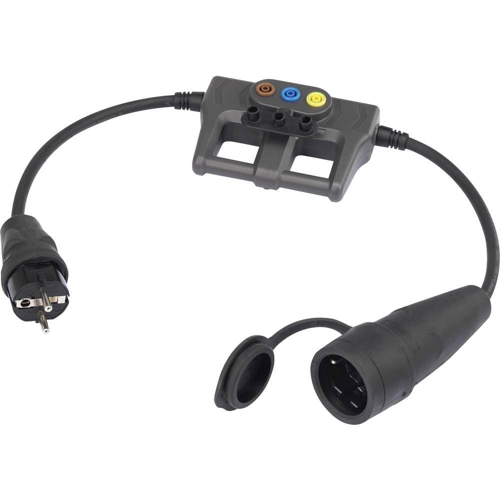 Merilni adapter [gumijast vtič z zaščitenimi kontakti - gumijasta spojnica z zaščitenimi kontakti] VOLTCRAFT DLA-1L 16