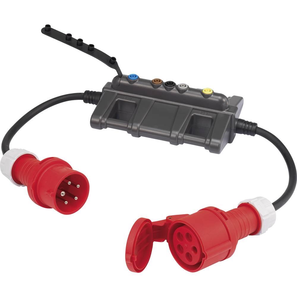 Merilni adapter [CEE-vtič - CEE-spojnica] VOLTCRAFT DLA-3L 32