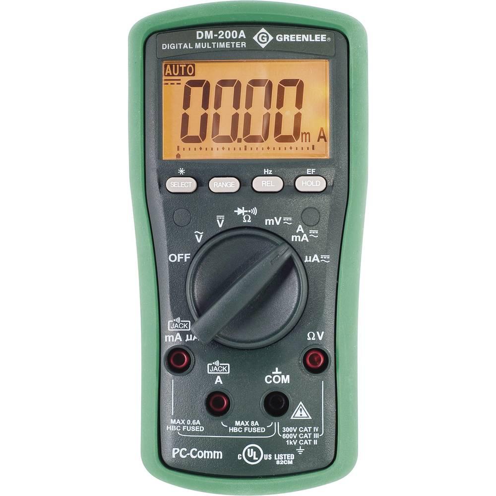 Kal.-ISO Ročni digitalni multimeter GreenLee DM-200A CAT II 1000 V, CAT III 600 V št. mest na zaslonu: 6000