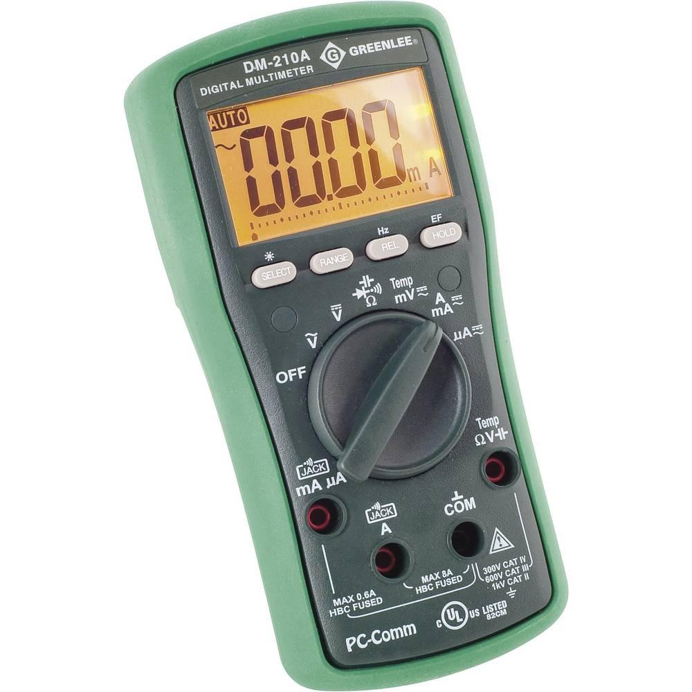 Ročni multimeter, digitalni Greenlee DM-210A kalibracija narejena po: delovnih standardih, CAT II 1000 V, CAT III 600 V število