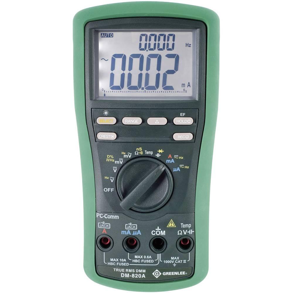 Ročni multimeter, digitalni Greenlee DM-820A kalibracija narejena po: delovnih standardih, CAT IV 1000 V število znakov na zaslo