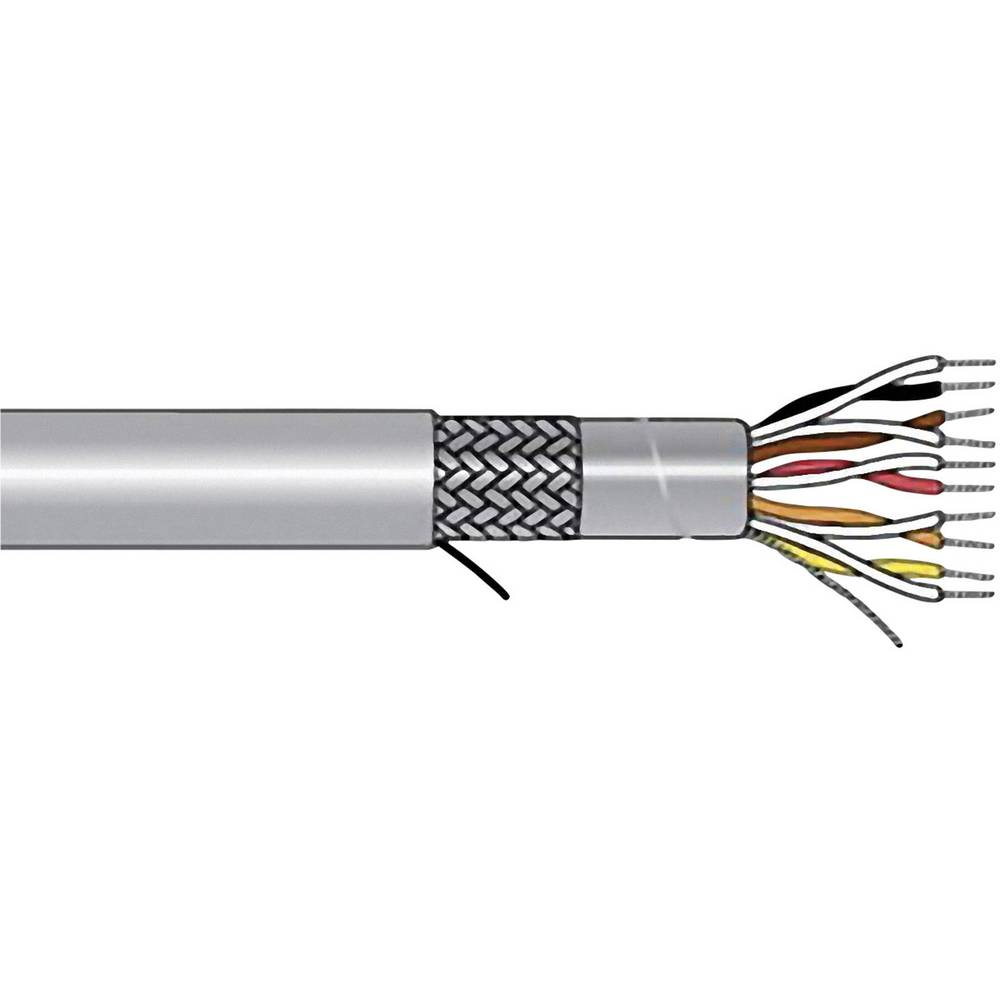 Krmilni kabel Xtra-Guard® 1 8 x 0.23 mm Schiefer-sive barve AlphaWire 5274C SL005 meterski
