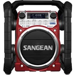 DAB+ Radio til byggepladsen Sangean U-4 DBT Rød, Sort