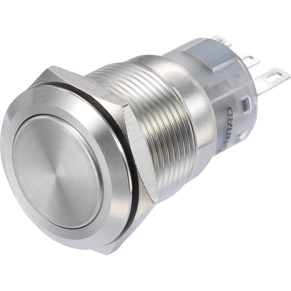 Pritisni prekidač 250 V/AC 3 A 1 x uklop/(uklop) TRU Components LAS1-AGQ-11/S IP65 s povratom 1 kom.