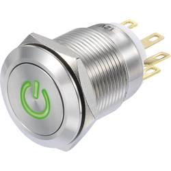Pritisna tipka 250 V/AC 3 A 1 x vklop/(vklop) TRU Components LAS1-GQF-11/G/12V IP65 tipkalno 1 kos