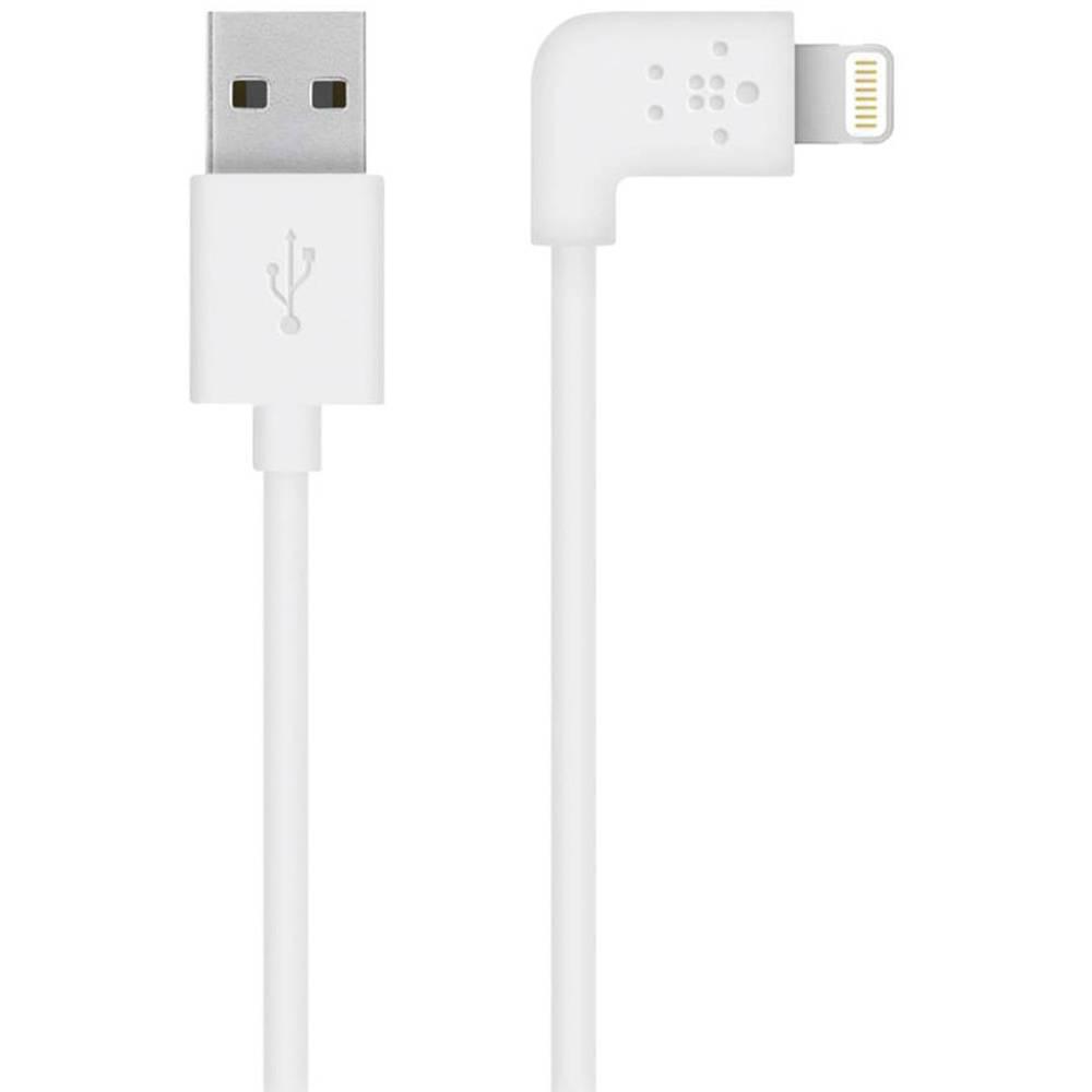 Podatkovni kabel/kabel za punjenje za iPad/iPhone/iPod Belkin [1x Apple Dock Lightning utikač - 1x USB 2.0 utikač A] 1.20 m, bij