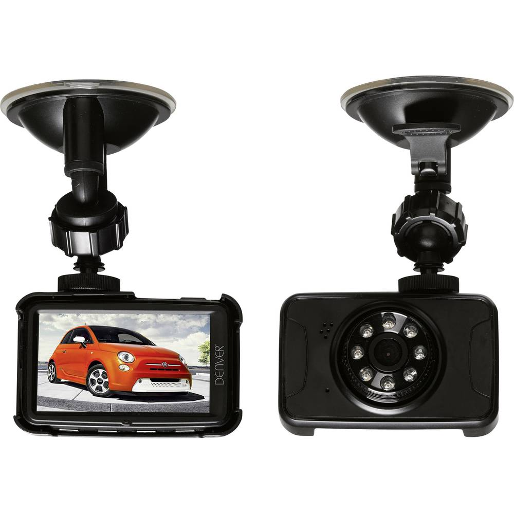 Dashcam Denver CCT-5001 Betragtningsvinkel horisontal=120 ° 12 V Batteri, Display, Mikrofon