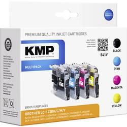 Tiskalniške kartuše, kombinirano pakiranje, Kompatibel KMP B41V, nadomeščajo Brother LC-123, črna, cian, magenta, rumena