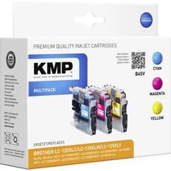 Kartuša, kombinirano pakiranje KMP kompatibilna B45V nadomesti Brother LC-125 cian, Magenta, rumena