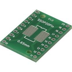 Eksperimentalna plošča za tiskano vezje iz epoksida (D x Š) 25.4 mm x 17.8 mm 35 µm raster 2.54 mm TRU Components SSOP20P
