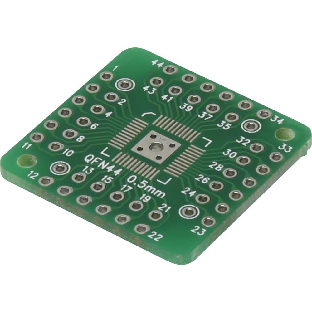 Eksperimentalna plošča, epoksid (D x Š) 25.40 mm x 25.40 mm 35 µm mreža 2.54 mm Conrad QFN44-QFN48 vsebina 1 kos