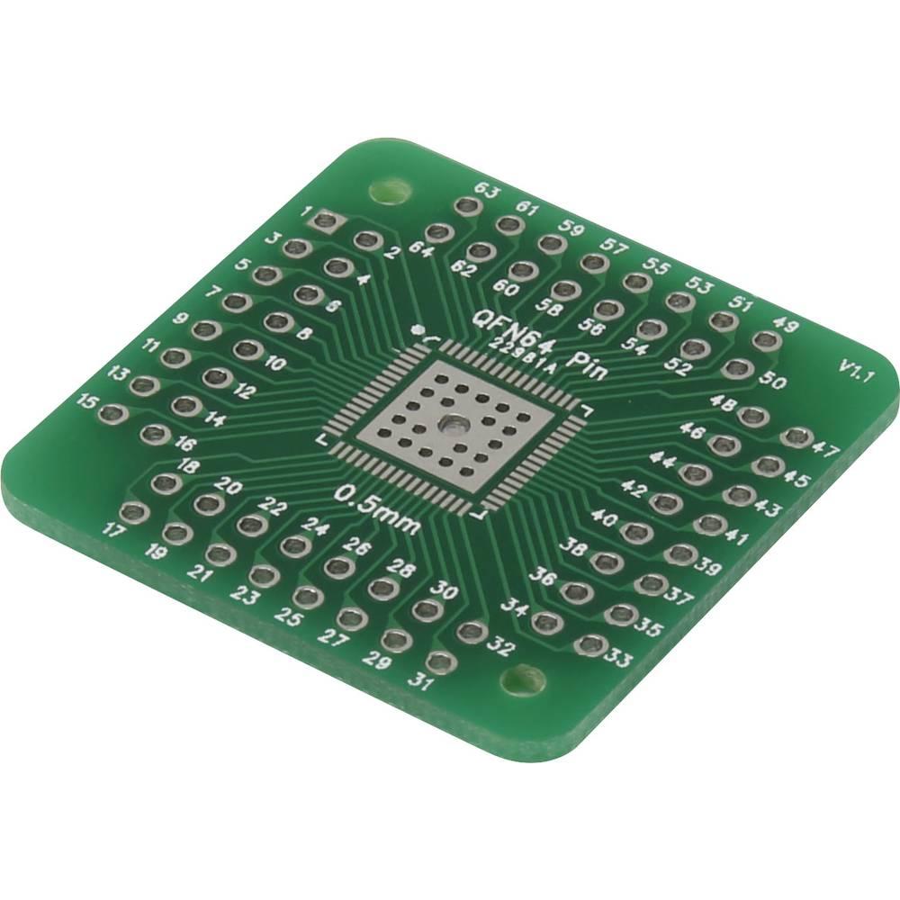 Eksperimentalna plošča, epoksid (D x Š) 33 mm x 33 mm 35 µm mreža 2.54 mm Conrad QFN56P-QFN 64P vsebina 1 kos