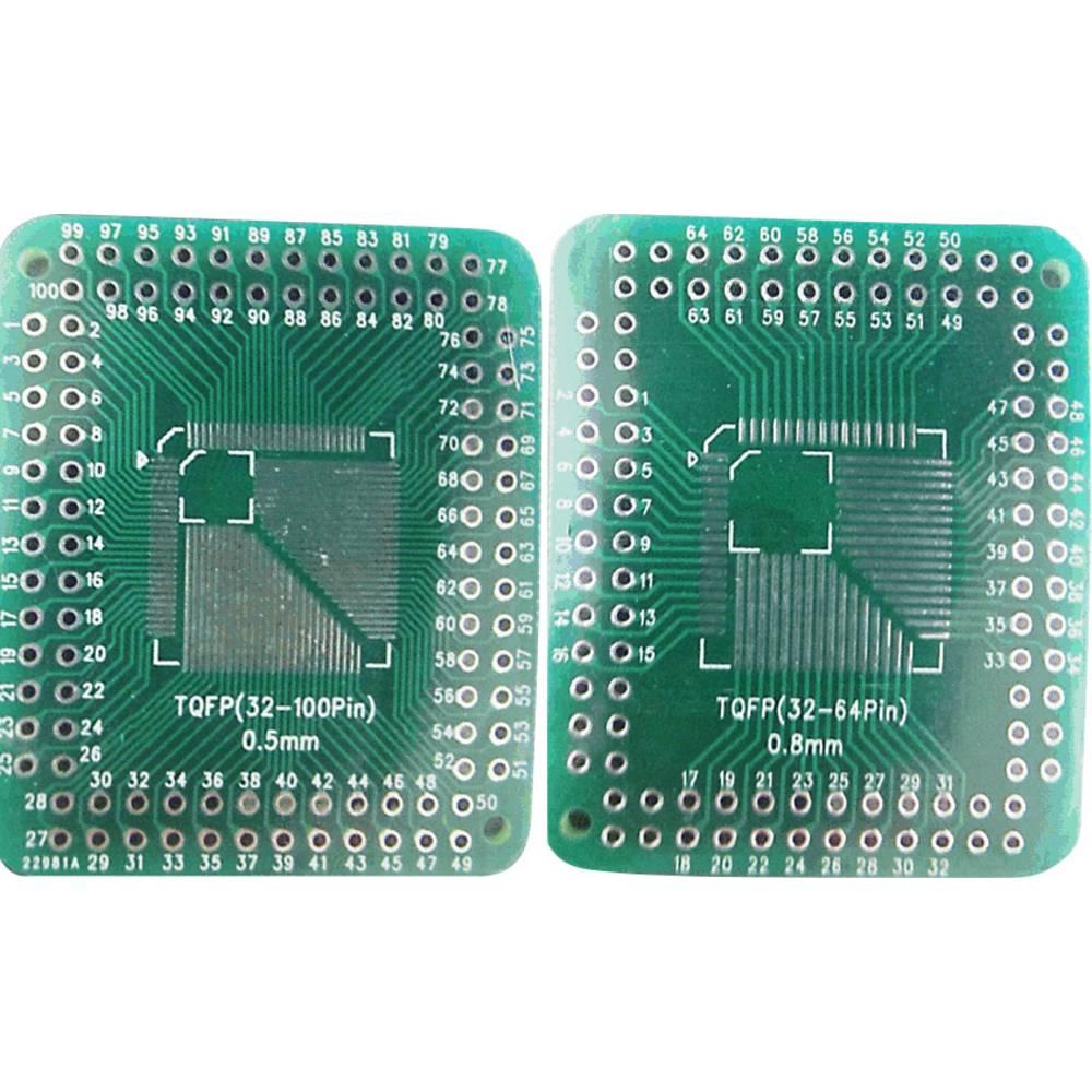 Eksperimentalna plošča, epoksid (D x Š) 46 mm x 38 mm 35 µm mreža 2.54 mm Conrad TQFP32-100P-32-64P vsebina 1 kos
