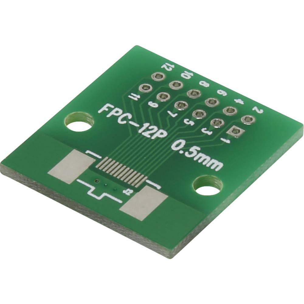 Eksperimentalna plošča, epoksid (D x Š) 46.10 mm x 26.10 mm 35 µm mreža 2.54 mm Conrad FPC12P vsebina 1 kos