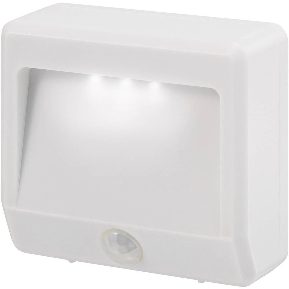 Nočna lučka z javljalnikom gibanja Renkforce Girona, pravokotna, LED, hladna bela svetloba, bela barva, EMN404PIR