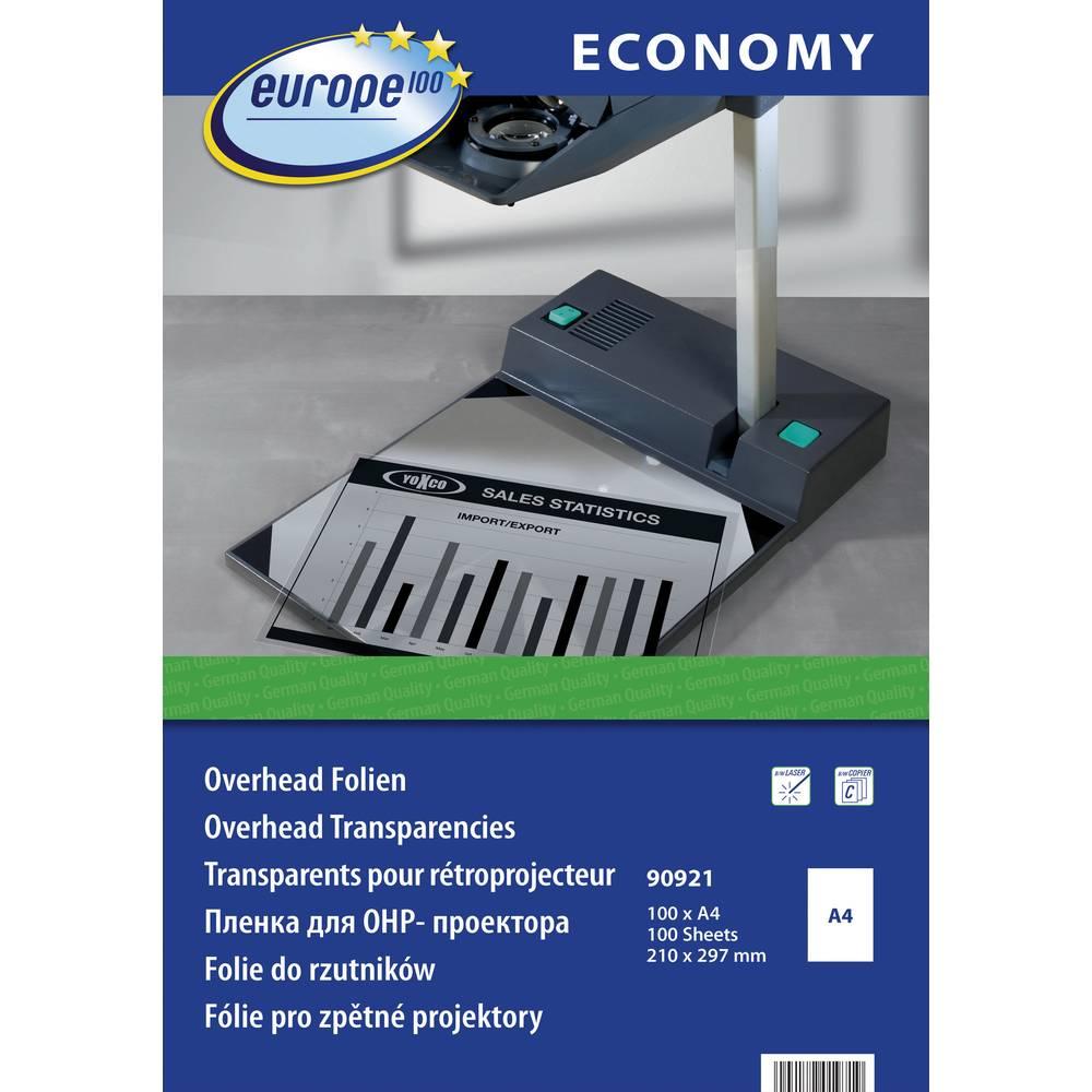 Europe 100 folija za presevni delovni projektor, Laser, 90921 , DIN A4, 100 kosov