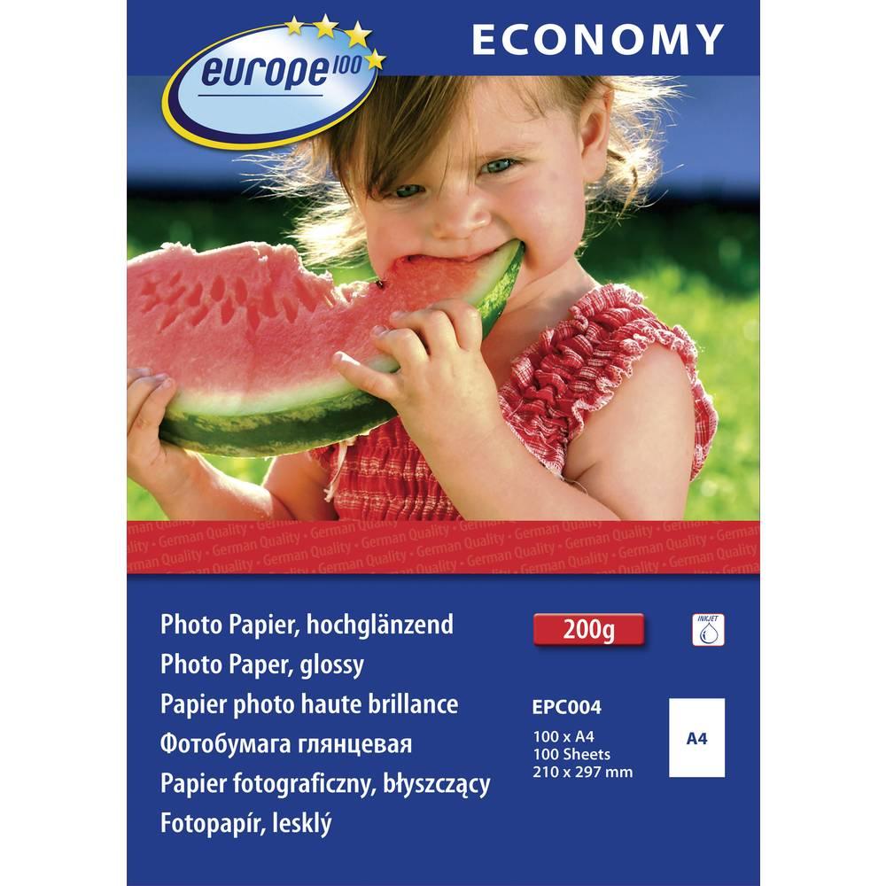 Sjajni fotografski papir EPC004 Europe 100 DIN A4, 210 g/m, visoki sjaj, 100 listova