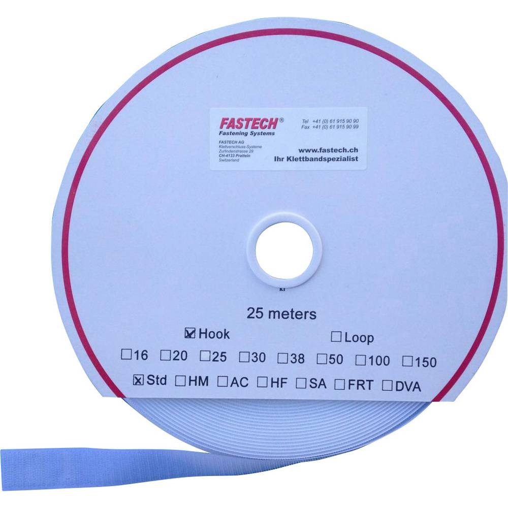 Sprijemalni trak za prišivanje, oprijemen del (D x Š) 25000 mm x 150 mm bela Fastech T0115000000125 25 m
