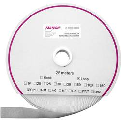 Sprijemalni trak za prišivanje, oprijemen del (D x Š) 25000 mm x 16 mm bela Fastech T0101600000125 25 m